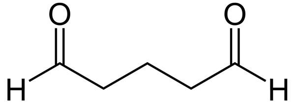 formula del glutaraldehido